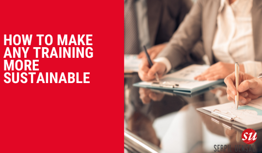 How to make any training more sustainable